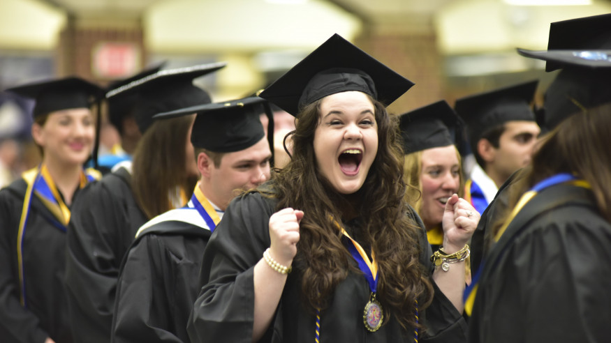 Students share the excitement of graduation, especially Alissa Jones.