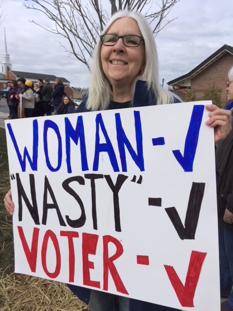 protest sign at Women's March