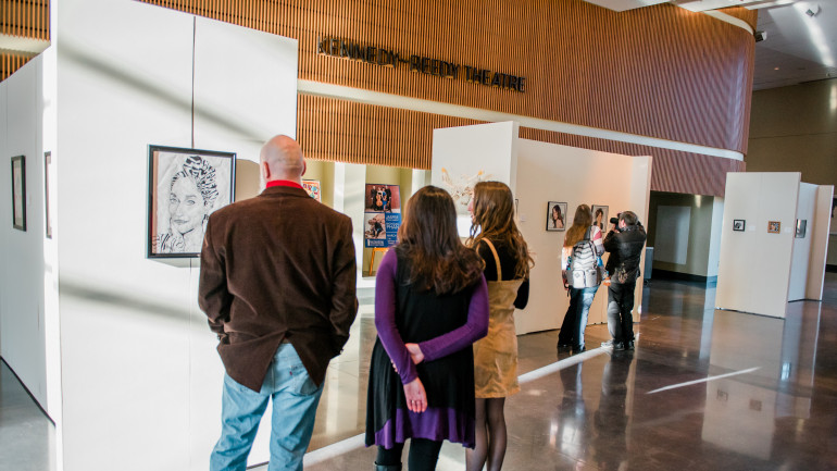 The Annual High School Art Show hosted at the McGlothlin Center for the Arts.