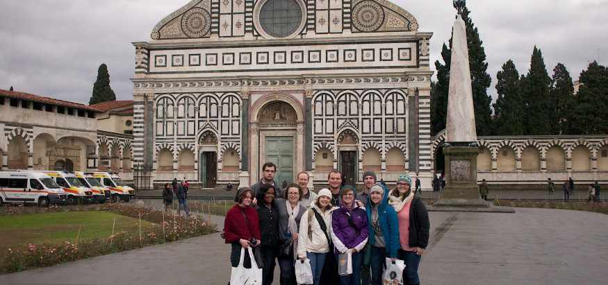 Students study abroad in Italy through our longest running international program.
