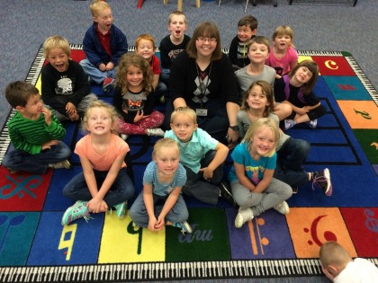 Time for learning on the music mat!