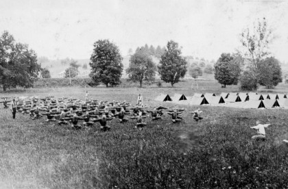 During World War I, ROTC thrived on the Emory & Henry campus.