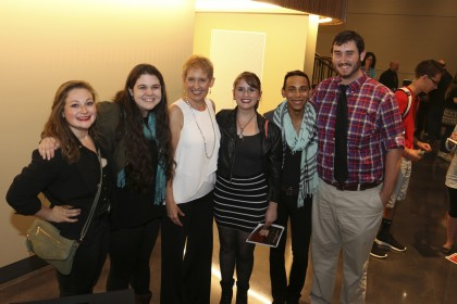 Students with Emmy awarding winning actress, performer and musician Liz Callaway during the debut...