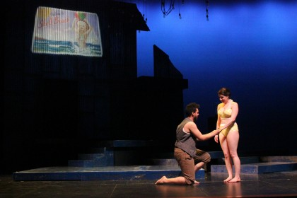 "A performance of ""Eurydice"" a classic tragic love story, shows the beautiful set design..."