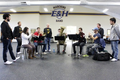 Students worked with Canadian Brass