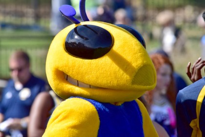 Go Wasps! Our mascot is always there to get the swarm going!