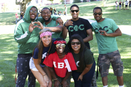 C Phi C and other greeks rally together to celebrate.