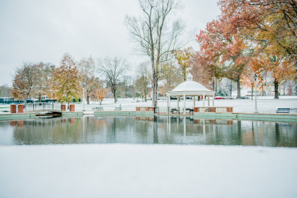A favorite spot, the duck pond, during the winter.