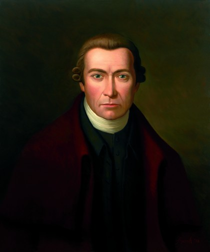Artist Daniel Lynch portrait of Patrick Henry