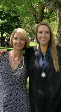 Pam Kestner and her daughter, Olivia Chappalear, who graduated from Emory & Henry in 2015.