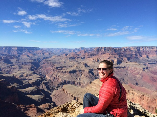 Krystin Krause at South Rim of Grand Canyon