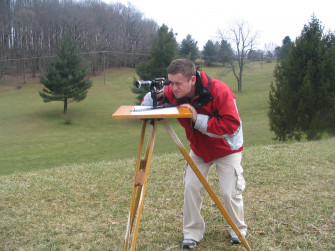 Students may simple equipment to survey a property, and compare its accuracy to our more modern s...