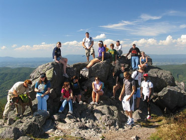 Geology Field Trip at one the Emory & Henry students' favorite spots - Buzzard Rock on W...