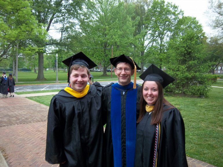 Adam Bolt and Samantha Lucado graduating - after years of suffering from Dr. Ed Davis