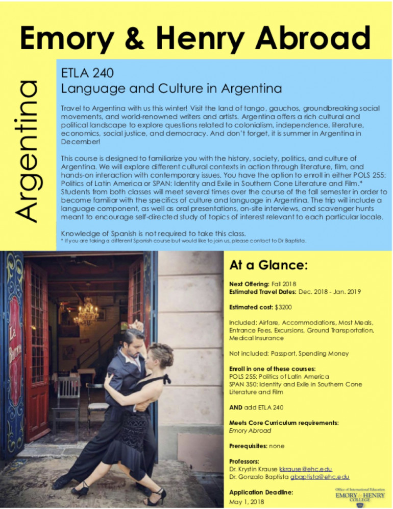 Study Abroad Argentina Dr Gonzalo Baptista
