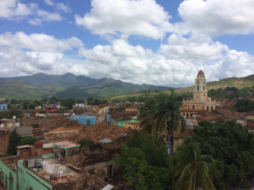 Beautiful overlook from the top of a building in Trinidad, Cuba
