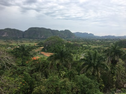 Overlook of Valle de Viñales from the Hotel Los Jazmines.
