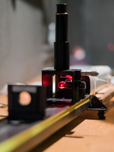 A computerized general physics laboratory allows students to use equipment including the laser ex...