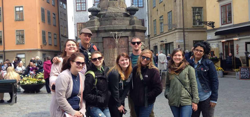 Sociology students studying abroad in Stockholm, studying gender equality in Swedish society.