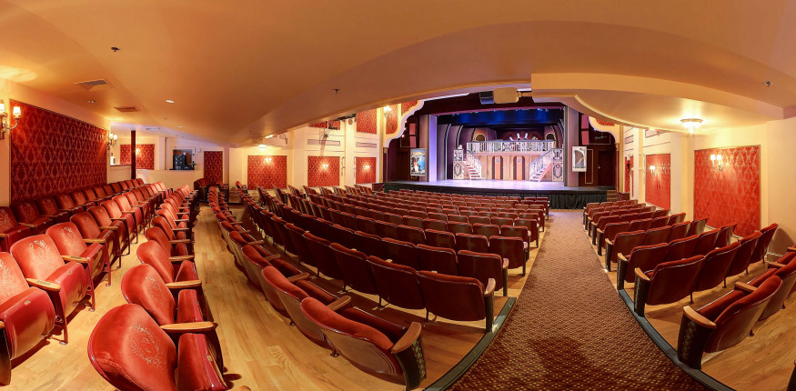 The main stage of the historic Barter Theatre in Abingdon.