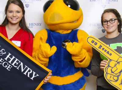 Students were welcomed by our mascot Stinger in the photo booth.