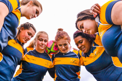 The E&H Women's Rugby team.
