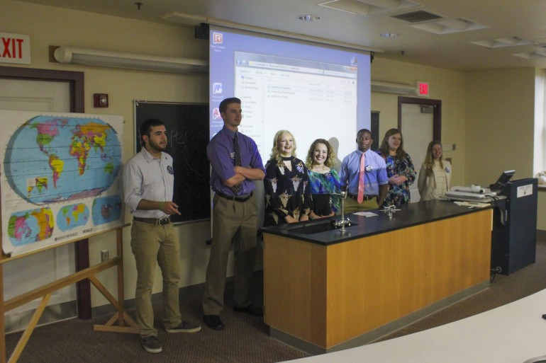 Students in the mass communications department's Advanced Video course present their projects produced for the United Way of Southwest Virginia at Ampersand Day 2017.