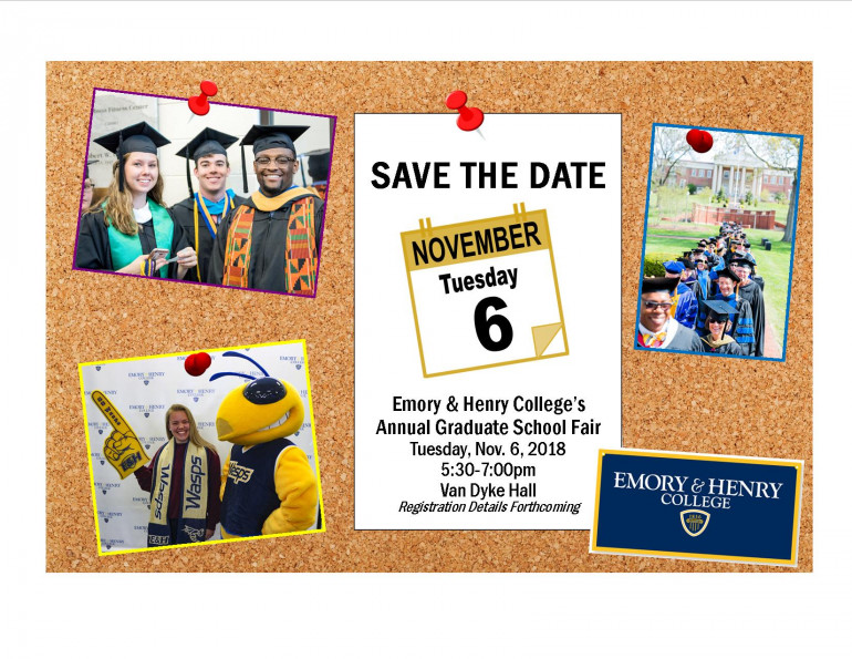 Save the date for November 6, 2018 Graduate School Fair