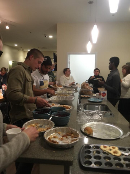 Community dinner led by RA Staff