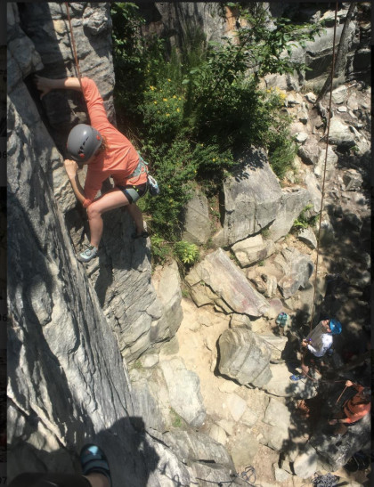 Kaelee Climbing at Pine Mountain, NC.