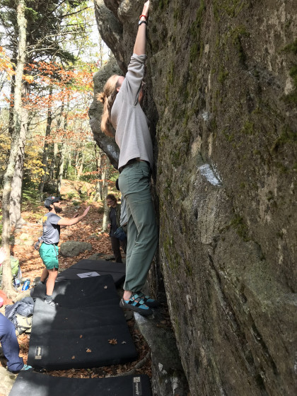 Bouldering in the Grayson Highlands State Park.