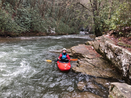 Whitewater kayaking on Beaverdam Creek.