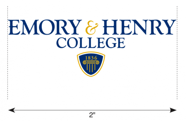 "College logo with minimum 2"" size highlighted."