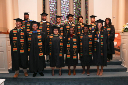 Donning of the Kente Ceremony, celebrating our African American graduates.