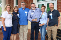 "Members of the E&H Alumni Board of Directors volunteer on ""moving in day"" to welcome new ..."