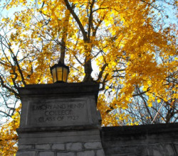 Fall foliage at Emory & Henry College.