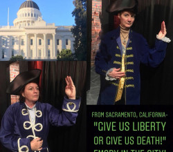 Senator Toni Atkins ('84) and Pam Kestner ('83) stole the show with their Patrick Henry Poses!