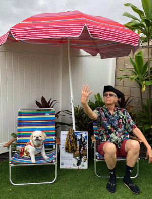E&H in the City in Hawaii…with Jeff Link and Mika the Wonder Dog. 2018