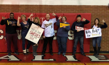 E&H fans at Holston High School showed their school spirit during the 2018 NCAA Div. III bask...