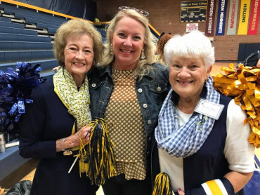 Former cheerleaders gathered for and E&H Cheerleader reunion in 2017.
