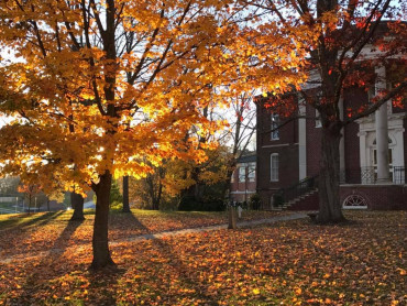 Fall foliage in front of Byars Hall 2016