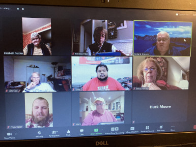 Snapshot of our Zoom conversation with some E&H published authors.