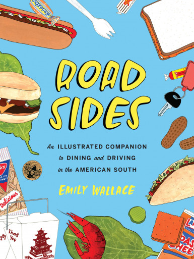 "Cover of Emily Wallace's book, ""Road Sides."""