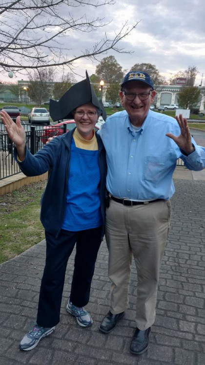 Best part of this photo? Homemade revolutionary hat!! Great crafting, Carrie Holeski! E&H in ...