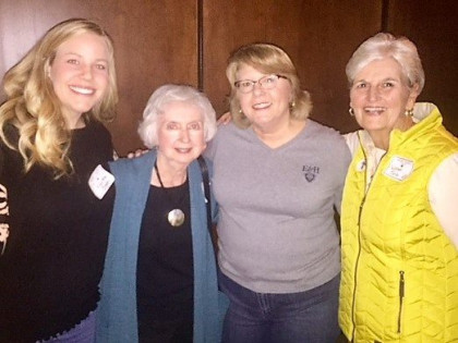 E&H in the City in Nashville: those are KPhi alums posing with the woman who wrote their soro...