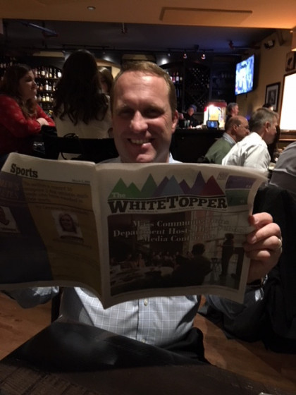 Old Whitetopper staff members enjoyed checking out the school paper at E&H in the City in Wil...