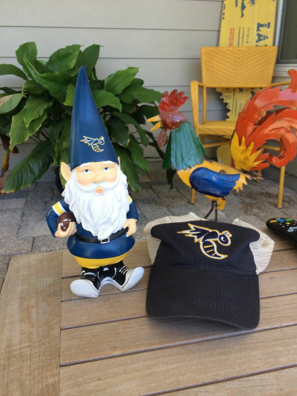 Eric Montgomery was watching in Florida with his new gnome!