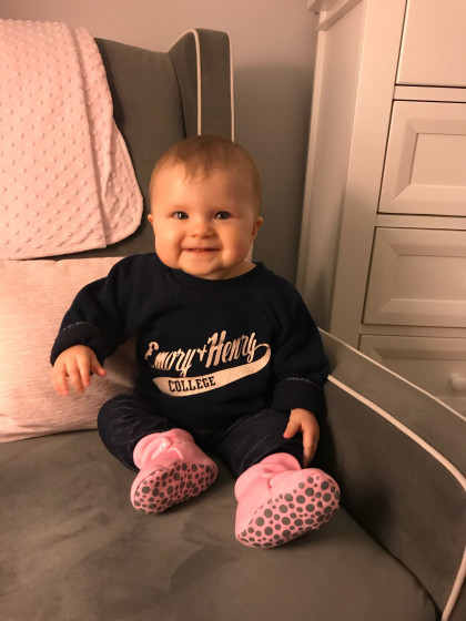 "WINNER! From Christy McGhee Blevins, '02: ""This sweatshirt was given to me when I was about 2 y..."
