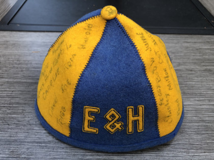 WINNER! From Rose Neese Houk, '81: This beanie was my mom's from 1947 and it was her pride a...
