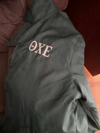From Jake Price '20: I got this windbreaker as my first pass down when I pledged Theta Chi E...